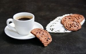 Chocolade espresso koekjes uit de stoomoven
